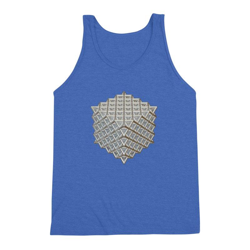 512 Tetrahedron Silver Men's Triblend Tank by diamondheart's Artist Shop