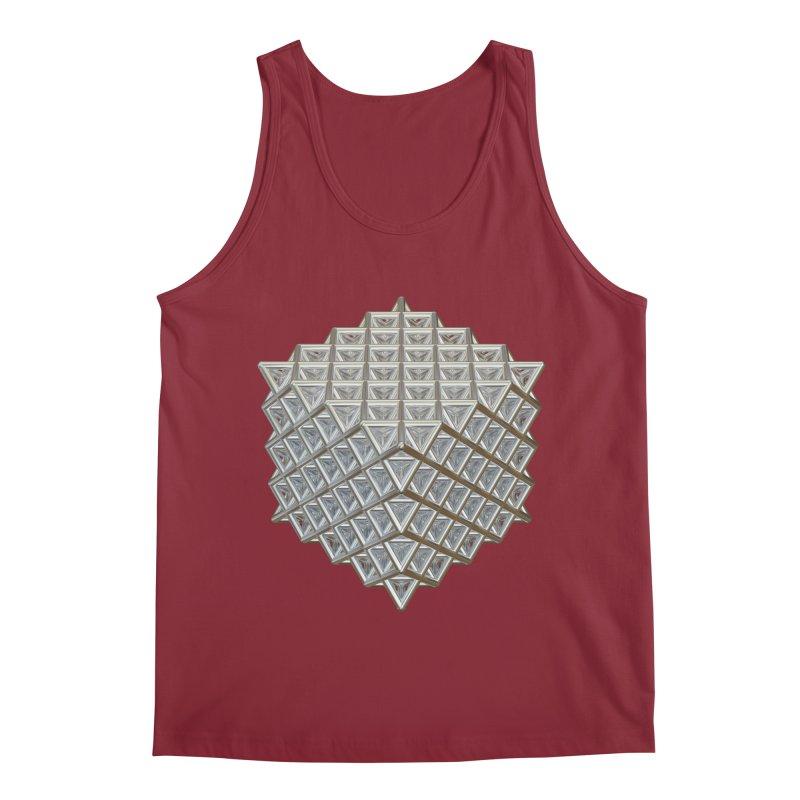 512 Tetrahedron Silver Men's Regular Tank by diamondheart's Artist Shop
