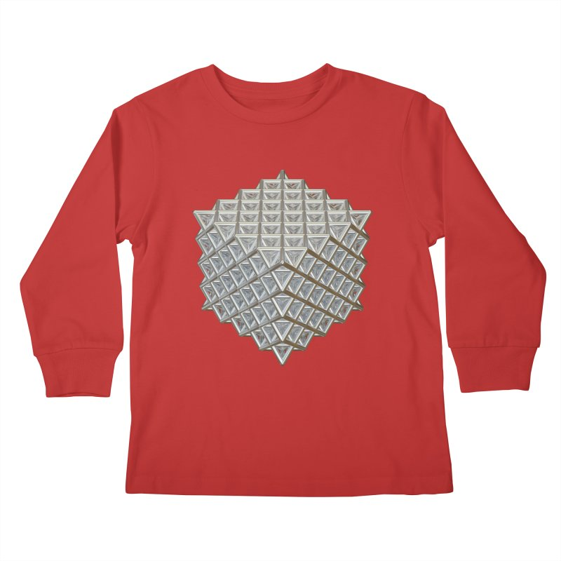 512 Tetrahedron Silver Kids Longsleeve T-Shirt by diamondheart's Artist Shop