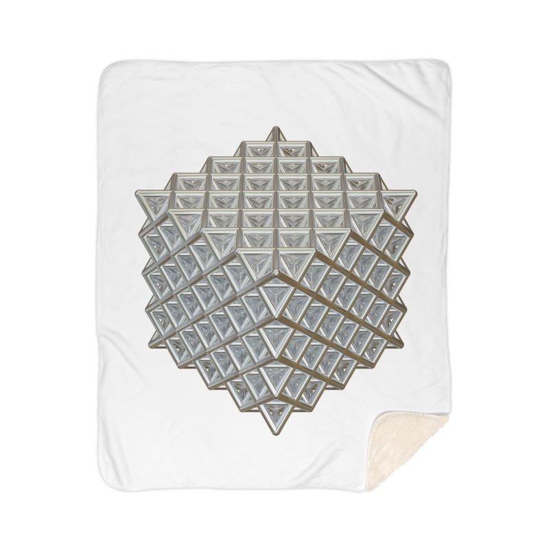 512 Tetrahedron Silver Home Sherpa Blanket Blanket by diamondheart's Artist Shop