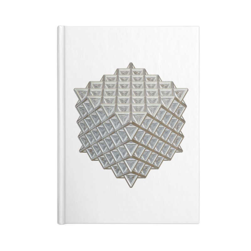 512 Tetrahedron Silver Accessories Blank Journal Notebook by diamondheart's Artist Shop