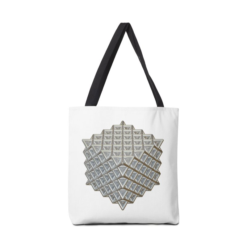 512 Tetrahedron Silver Accessories Bag by diamondheart's Artist Shop