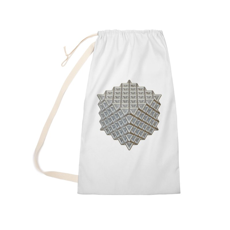 512 Tetrahedron Silver Accessories Laundry Bag Bag by diamondheart's Artist Shop