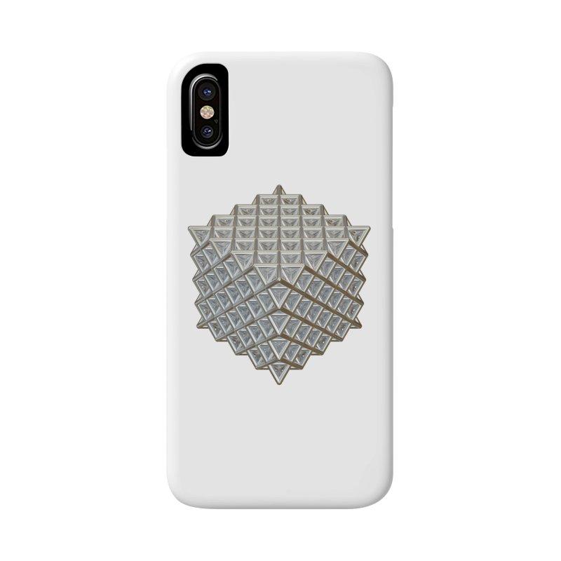 512 Tetrahedron Silver Accessories Phone Case by diamondheart's Artist Shop