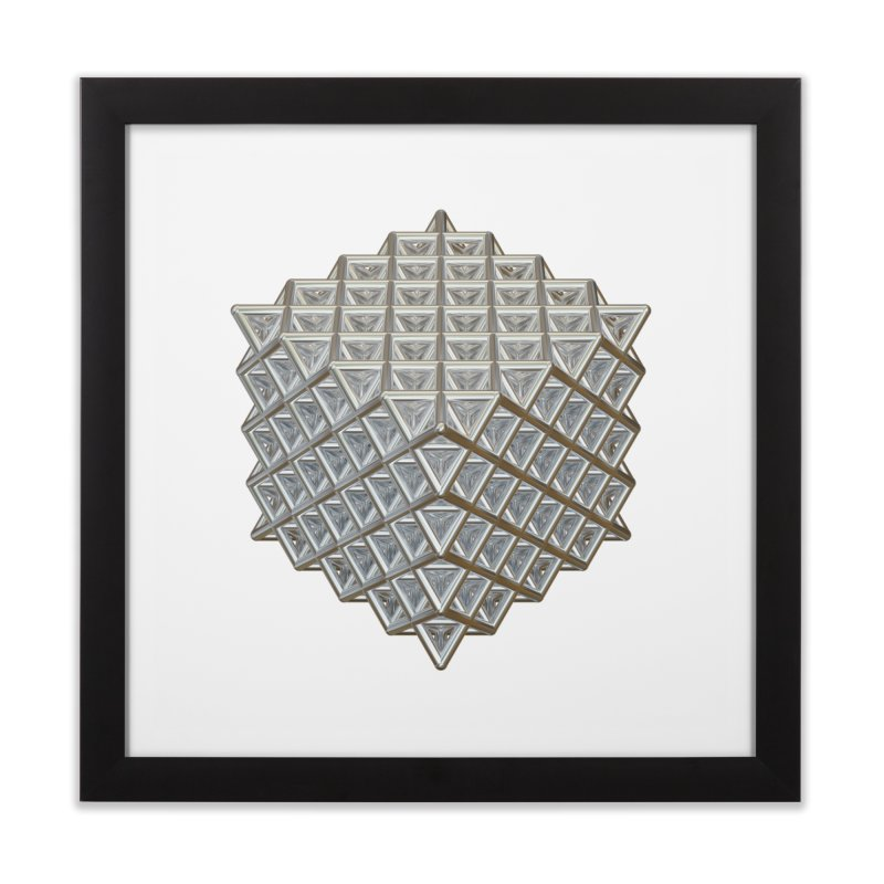 512 Tetrahedron Silver Home Framed Fine Art Print by diamondheart's Artist Shop