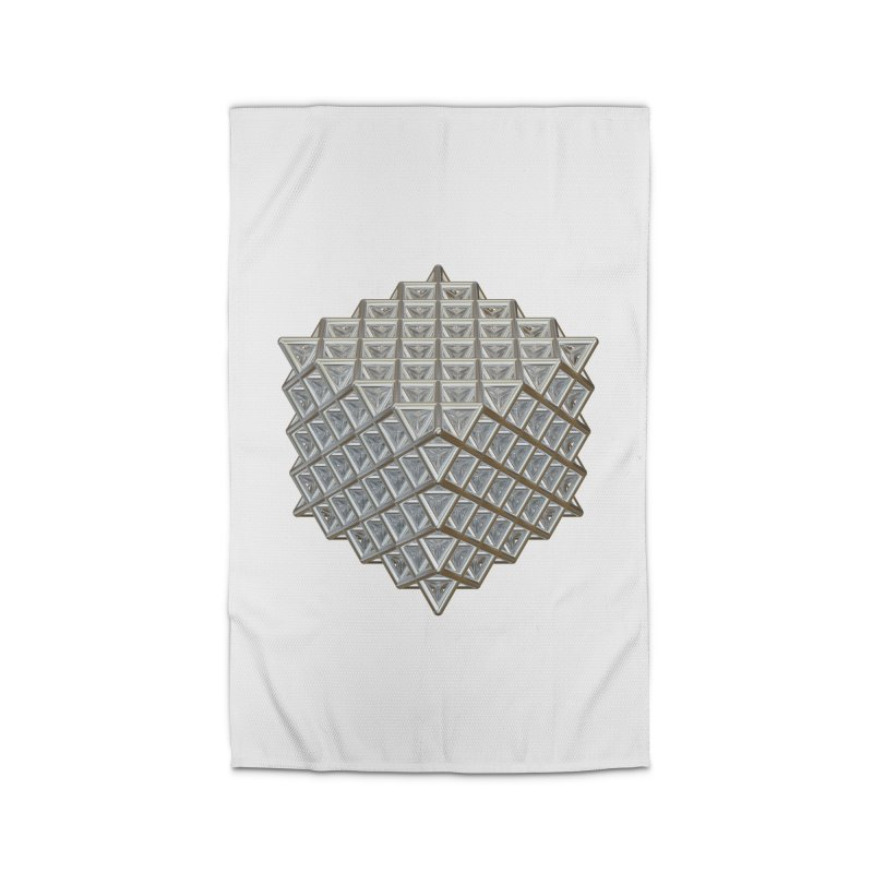 512 Tetrahedron Silver Home Rug by diamondheart's Artist Shop
