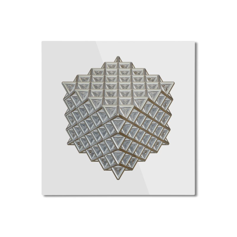 512 Tetrahedron Silver Home Mounted Aluminum Print by diamondheart's Artist Shop