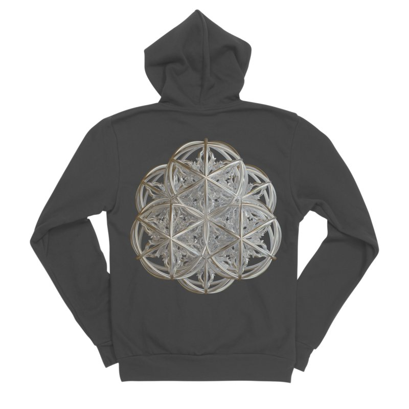 56 Dorje Object Silver v2 Men's Sponge Fleece Zip-Up Hoody by diamondheart's Artist Shop