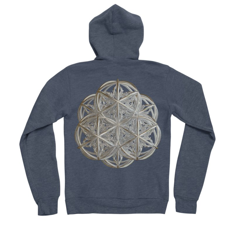 56 Dorje Object Silver v2 Women's Sponge Fleece Zip-Up Hoody by diamondheart's Artist Shop