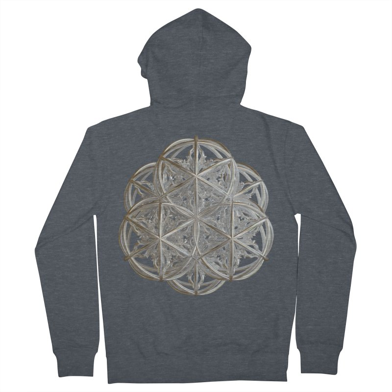 56 Dorje Object Silver v2 Men's French Terry Zip-Up Hoody by diamondheart's Artist Shop