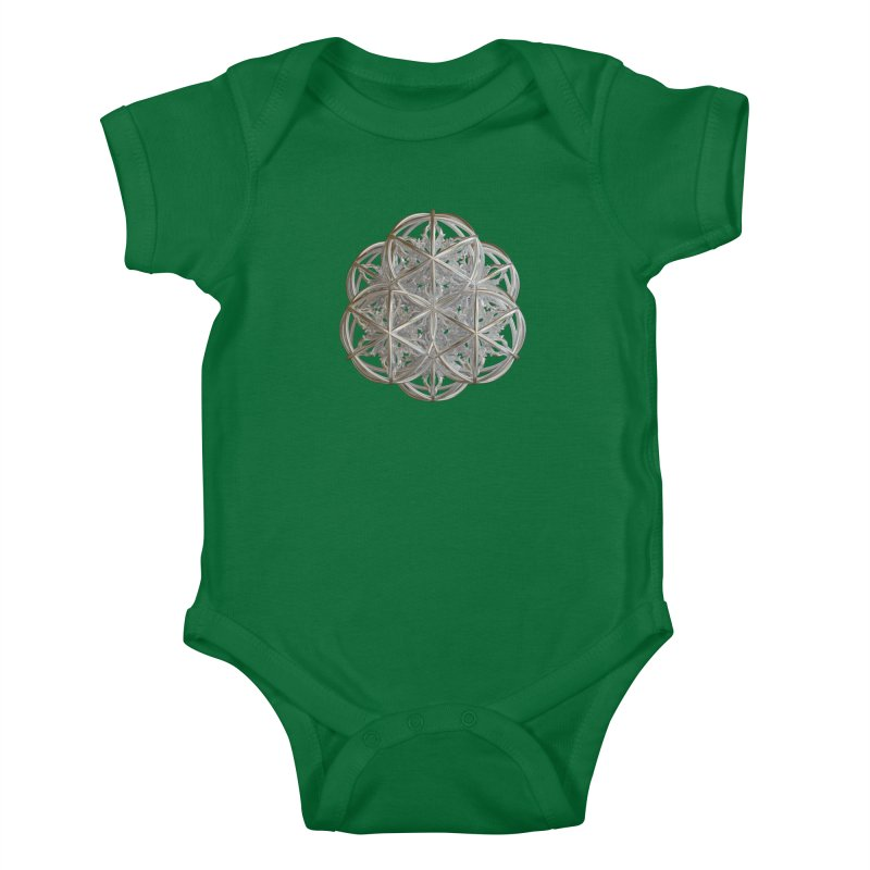 56 Dorje Object Silver v2 Kids Baby Bodysuit by diamondheart's Artist Shop