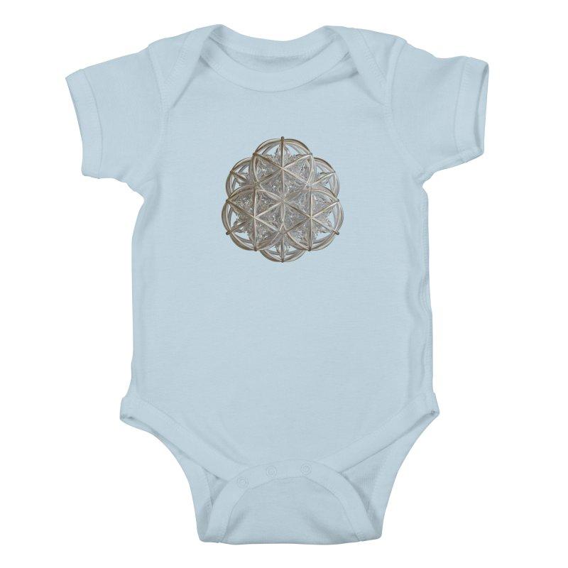 56 Dorje Object Silver v2 Kids Baby Bodysuit by diamondheart's Artist Shop