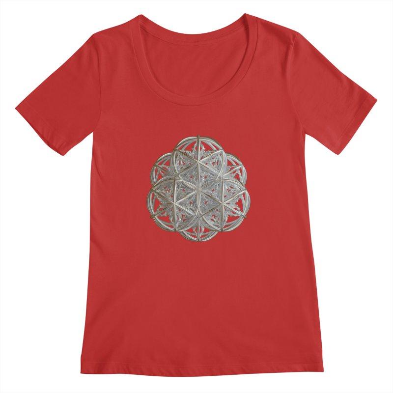 56 Dorje Object Silver v2 Women's Regular Scoop Neck by diamondheart's Artist Shop