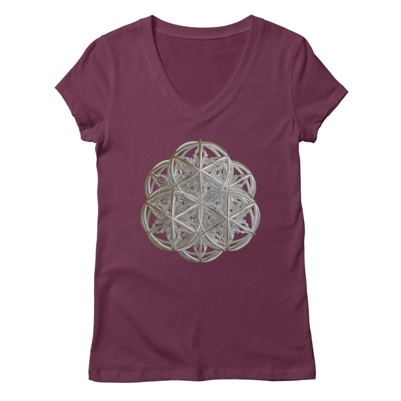 56 Dorje Object Silver v2 Women's Regular V-Neck by diamondheart's Artist Shop