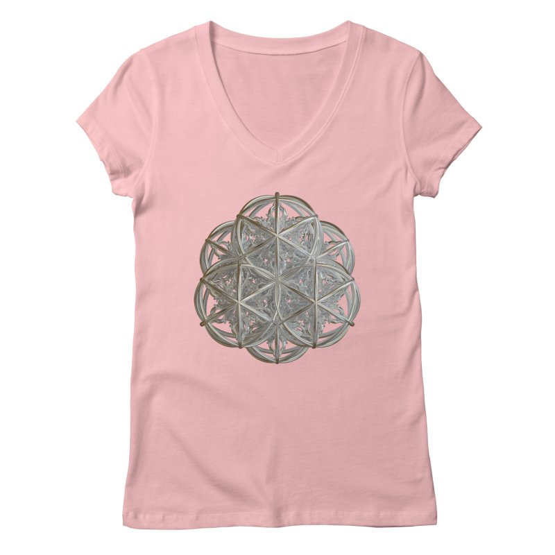 56 Dorje Object Silver v2 Women's Regular V-Neck by diamondheart's Artist Shop