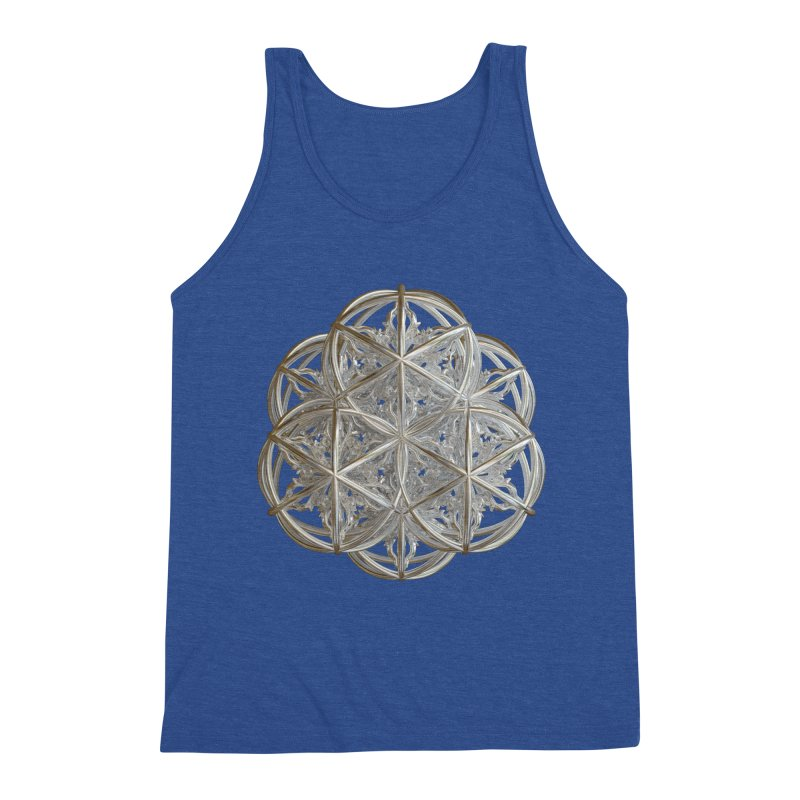 56 Dorje Object Silver v2 Men's Triblend Tank by diamondheart's Artist Shop