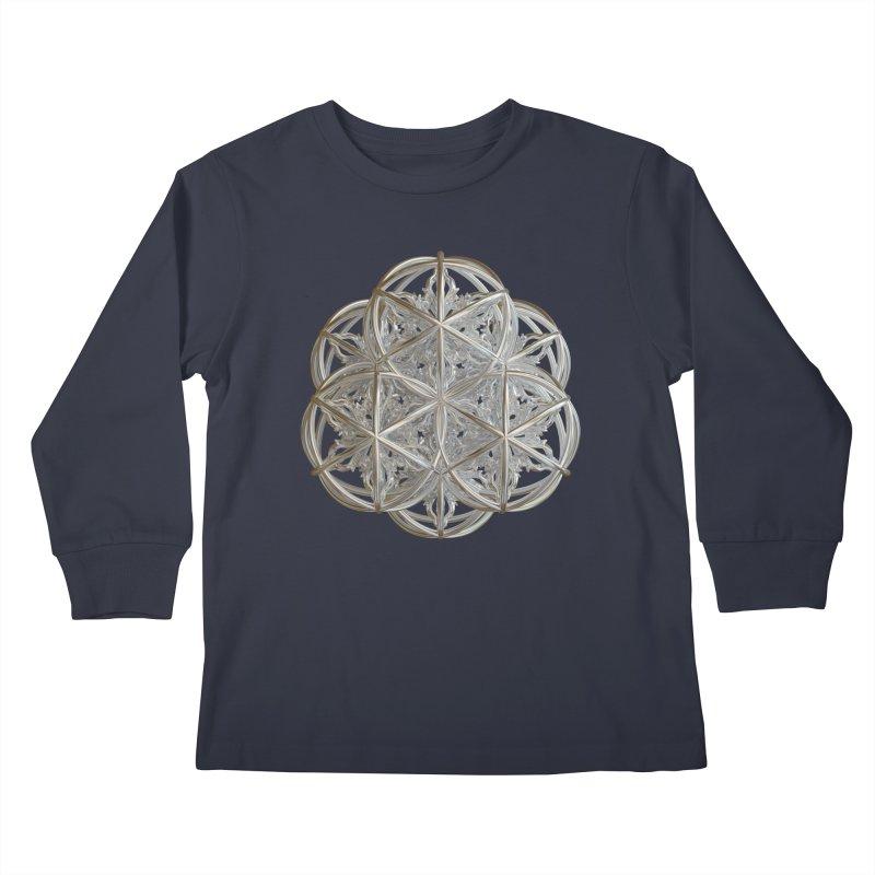 56 Dorje Object Silver v2 Kids Longsleeve T-Shirt by diamondheart's Artist Shop
