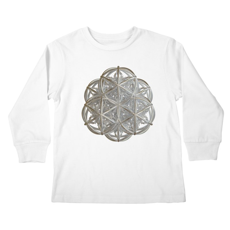 56 Dorje Object Silver v2 Kids Longsleeve T-Shirt by diamondheart's Artist Shop
