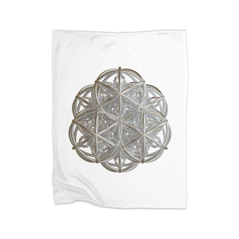 56 Dorje Object Silver v2 Home Fleece Blanket Blanket by diamondheart's Artist Shop