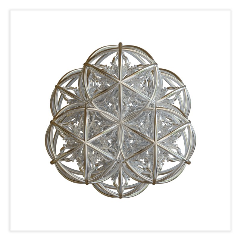 56 Dorje Object Silver v2 Home Fine Art Print by diamondheart's Artist Shop