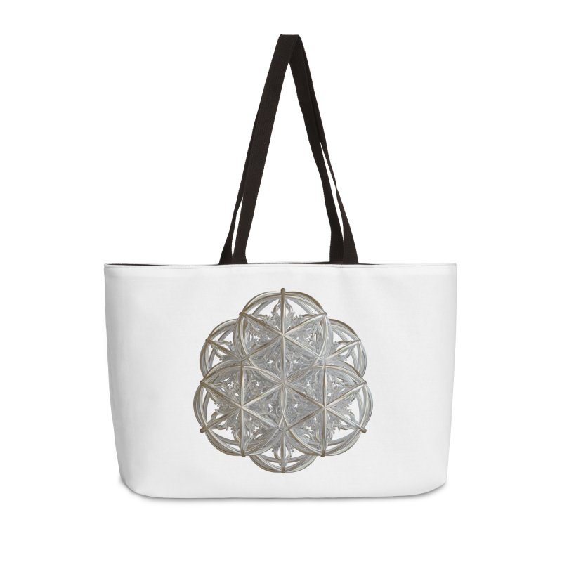 56 Dorje Object Silver v2 Accessories Weekender Bag Bag by diamondheart's Artist Shop