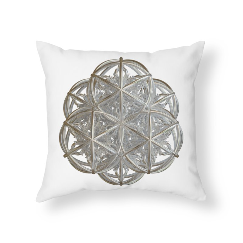 56 Dorje Object Silver v2 Home Throw Pillow by diamondheart's Artist Shop