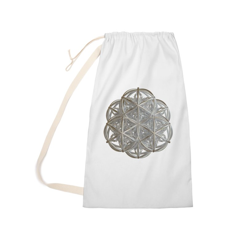 56 Dorje Object Silver v2 Accessories Laundry Bag Bag by diamondheart's Artist Shop