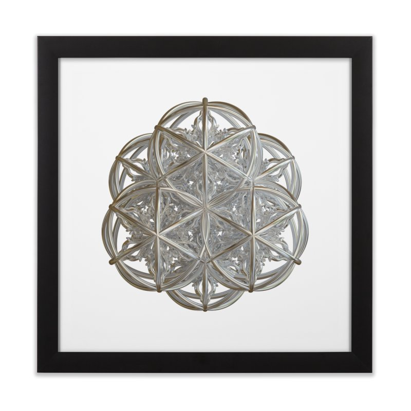56 Dorje Object Silver v2 Home Framed Fine Art Print by diamondheart's Artist Shop
