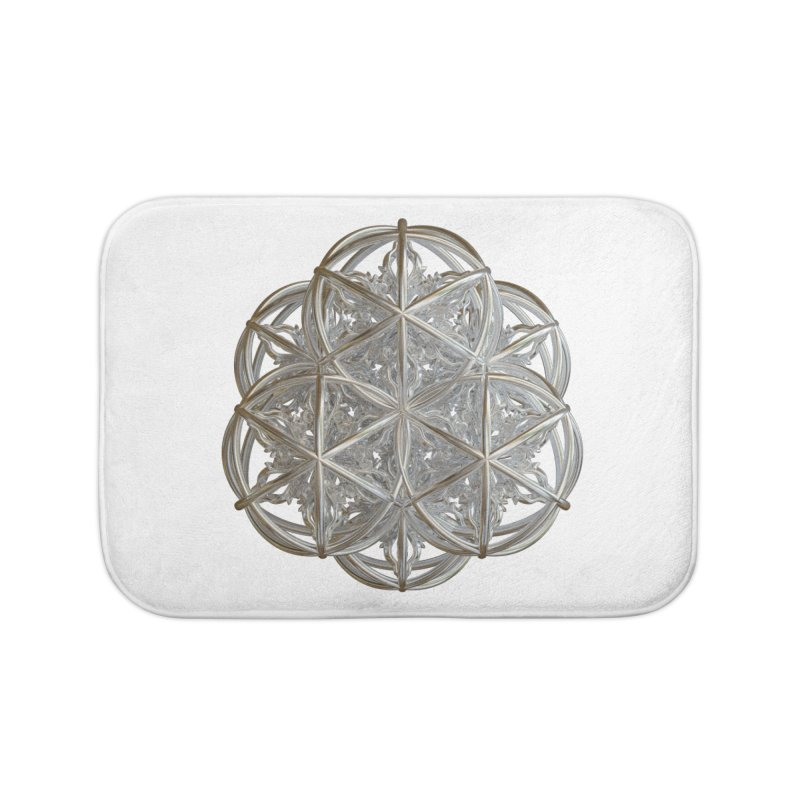 56 Dorje Object Silver v2 Home Bath Mat by diamondheart's Artist Shop