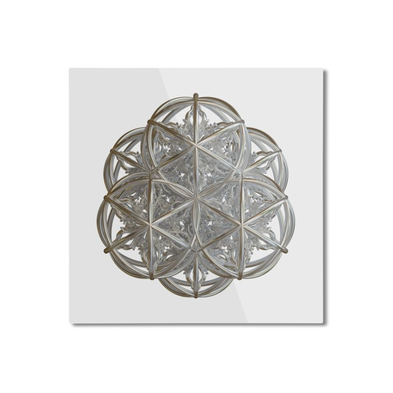 56 Dorje Object Silver v2 Home Mounted Aluminum Print by diamondheart's Artist Shop