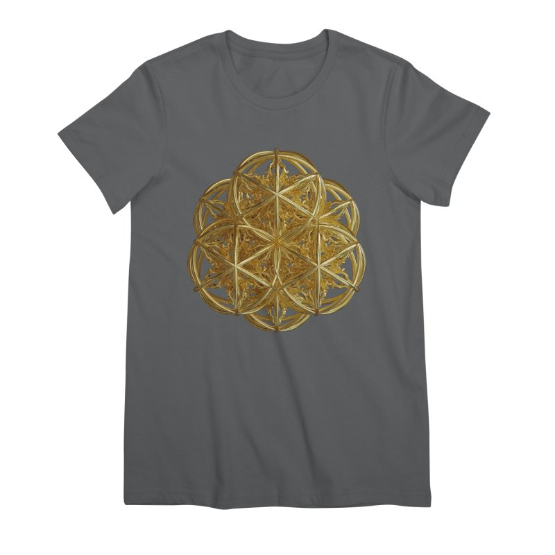 56 Dorje Object Gold v2 Women's Premium T-Shirt by diamondheart's Artist Shop