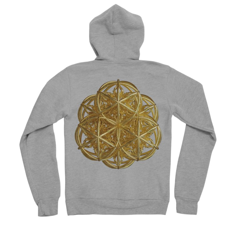 56 Dorje Object Gold v2 Men's Sponge Fleece Zip-Up Hoody by diamondheart's Artist Shop