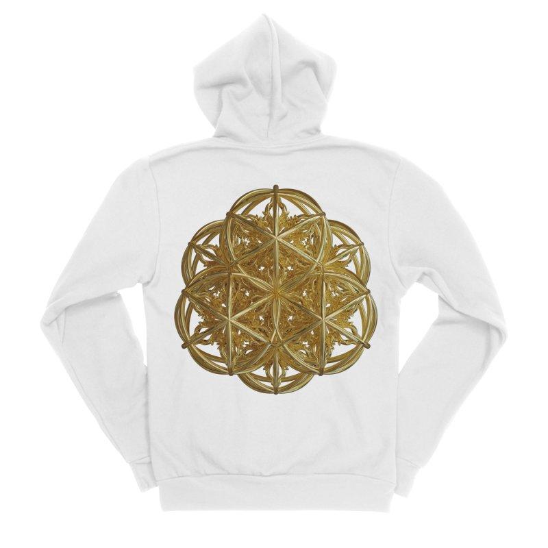 56 Dorje Object Gold v2 Men's Sponge Fleece Zip-Up Hoody by diamondheart's Artist Shop