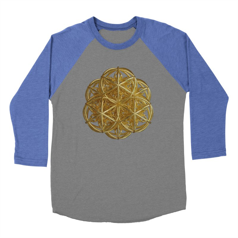 56 Dorje Object Gold v2 Men's Baseball Triblend Longsleeve T-Shirt by diamondheart's Artist Shop