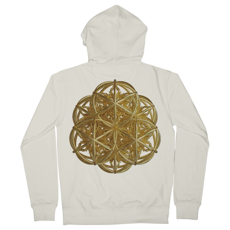 56 Dorje Object Gold v2 Women's French Terry Zip-Up Hoody by diamondheart's Artist Shop