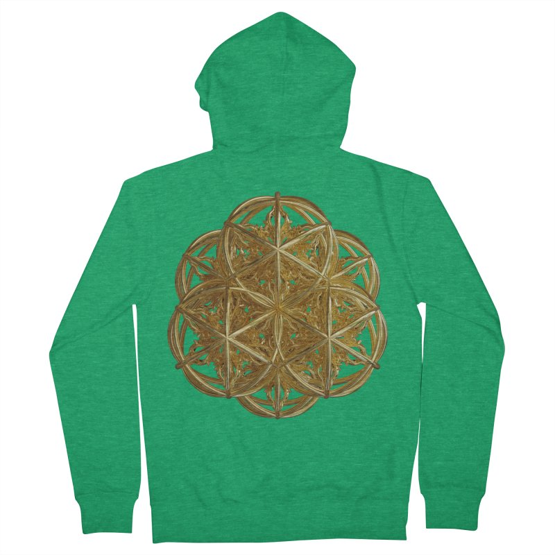 56 Dorje Object Gold v2 Men's French Terry Zip-Up Hoody by diamondheart's Artist Shop