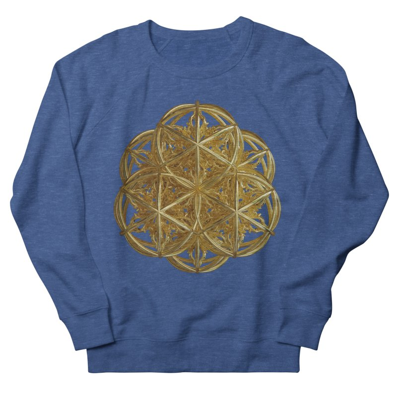 56 Dorje Object Gold v2 Men's French Terry Sweatshirt by diamondheart's Artist Shop