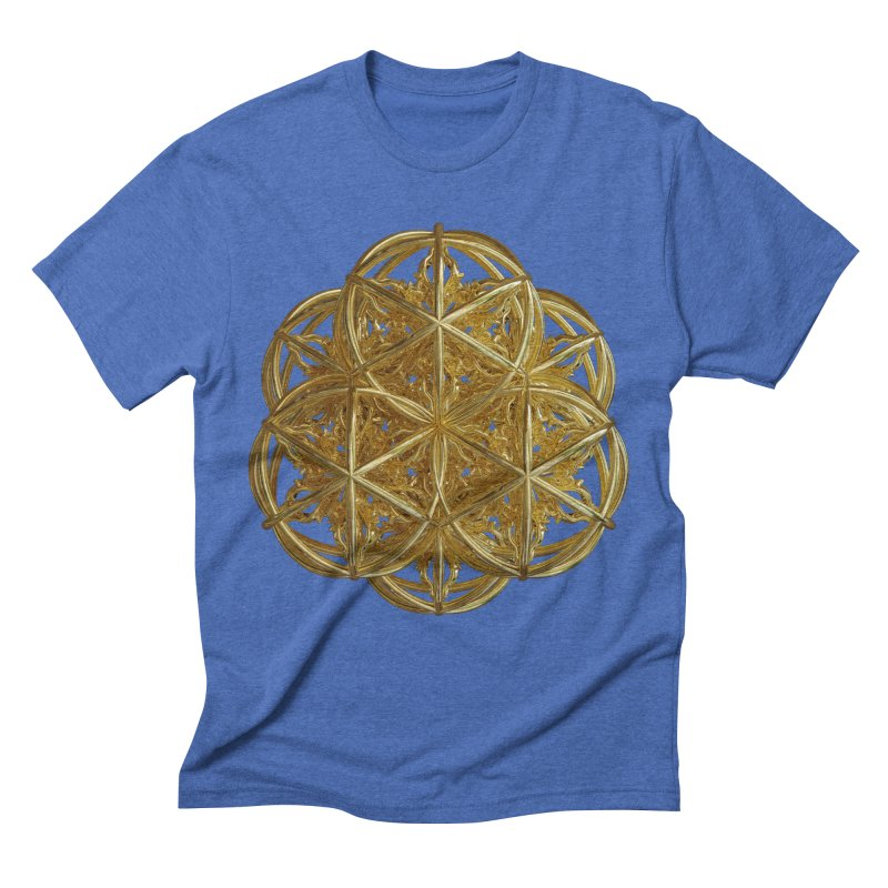 56 Dorje Object Gold v2 Men's Triblend T-Shirt by diamondheart's Artist Shop