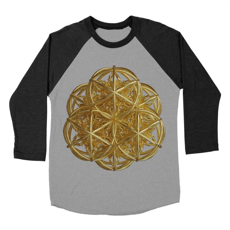 56 Dorje Object Gold v2 Men's Baseball Triblend Longsleeve T-Shirt by diamondheart's Artist Shop