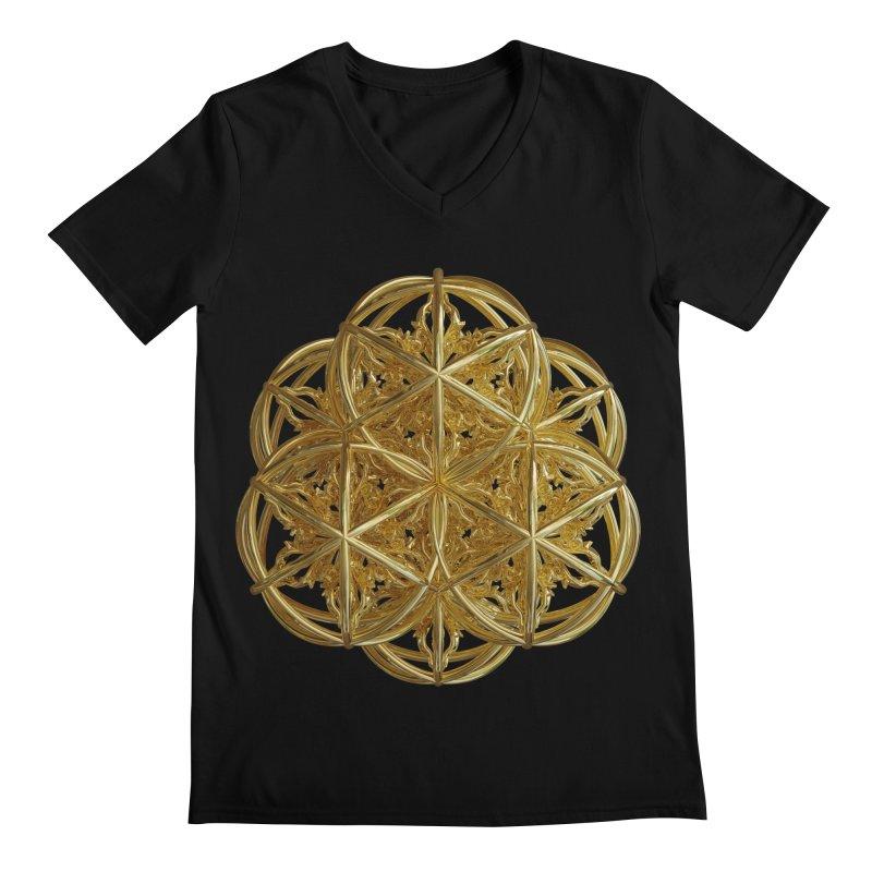 56 Dorje Object Gold v2 Men's Regular V-Neck by diamondheart's Artist Shop