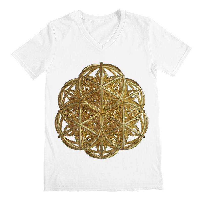 56 Dorje Object Gold v2 Men's V-Neck by diamondheart's Artist Shop