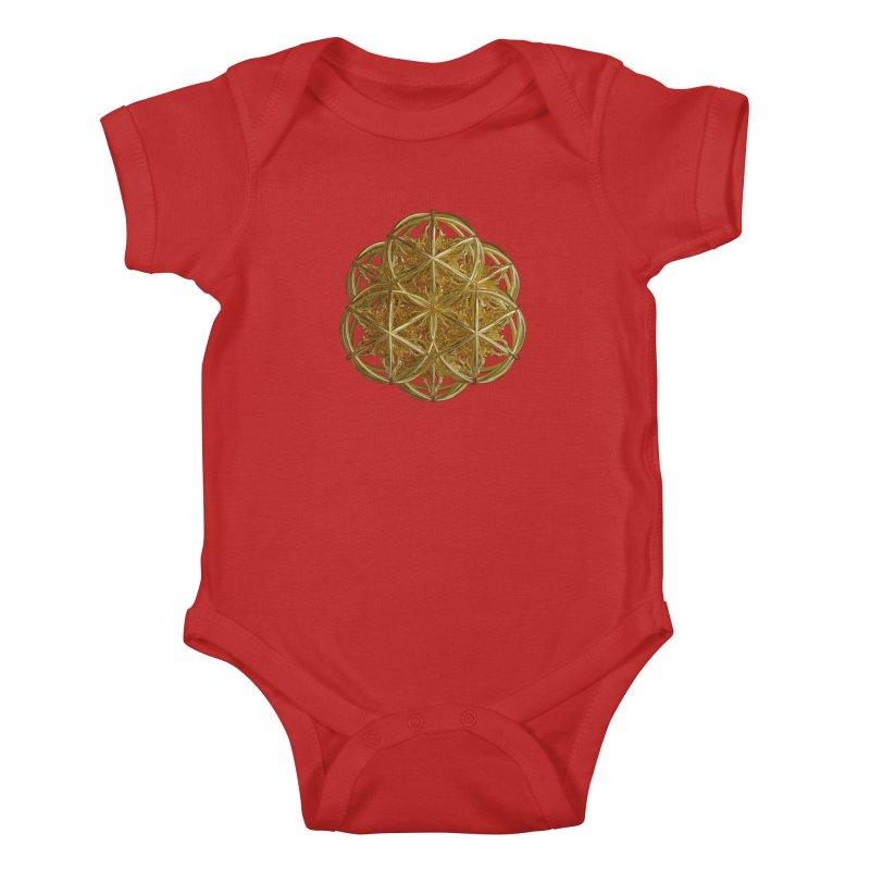 56 Dorje Object Gold v2 Kids Baby Bodysuit by diamondheart's Artist Shop