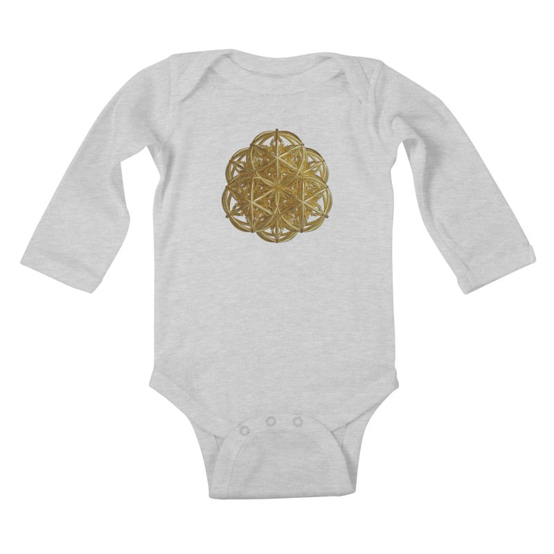 56 Dorje Object Gold v2 Kids Baby Longsleeve Bodysuit by diamondheart's Artist Shop