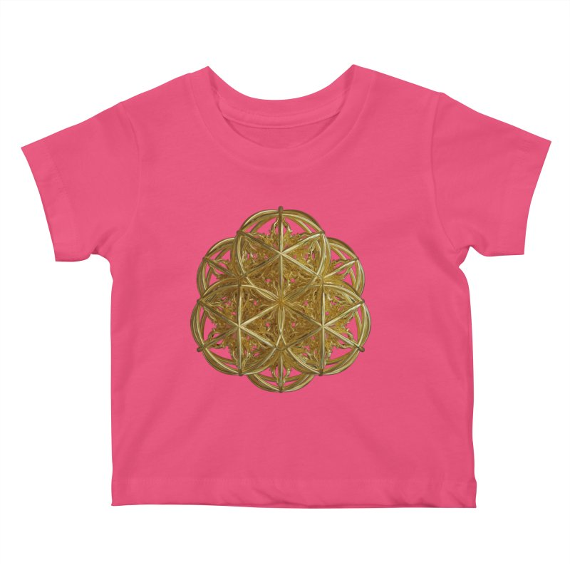 56 Dorje Object Gold v2 Kids Baby T-Shirt by diamondheart's Artist Shop