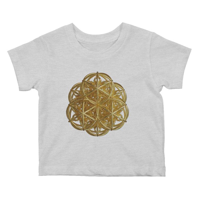 56 Dorje Object Gold v2 Kids Baby T-Shirt by diamondheart's Artist Shop