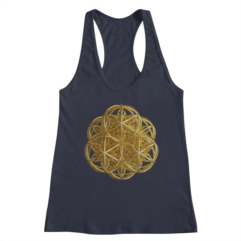 56 Dorje Object Gold v2 Women's Racerback Tank by diamondheart's Artist Shop