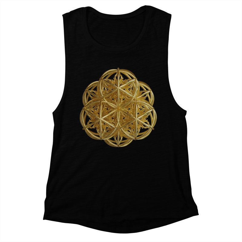 56 Dorje Object Gold v2 Women's Muscle Tank by diamondheart's Artist Shop
