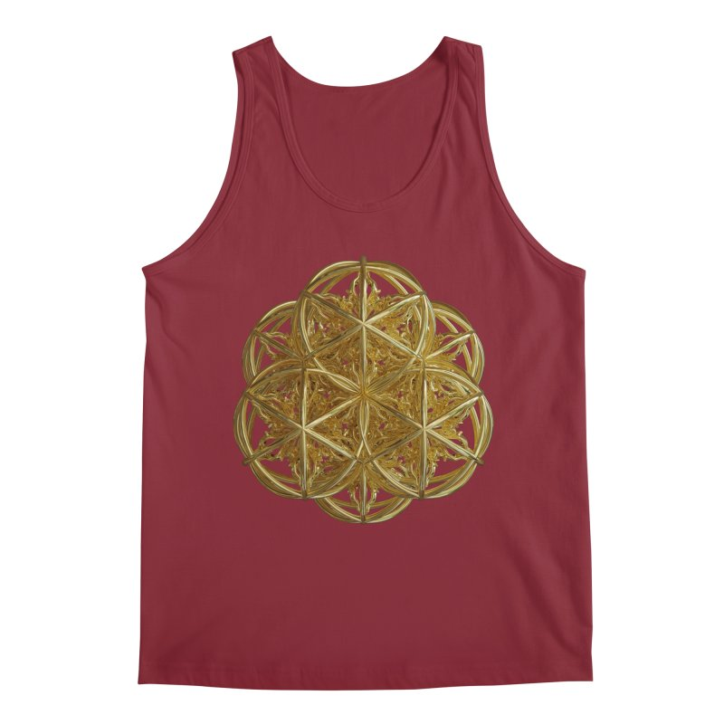56 Dorje Object Gold v2 Men's Regular Tank by diamondheart's Artist Shop