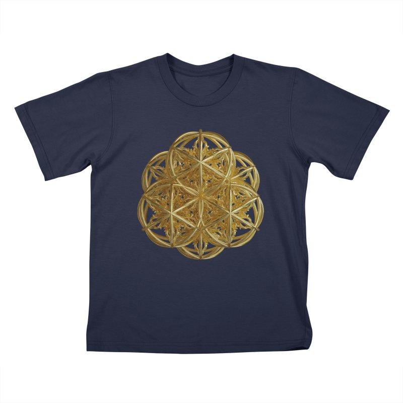 56 Dorje Object Gold v2 Kids T-Shirt by diamondheart's Artist Shop