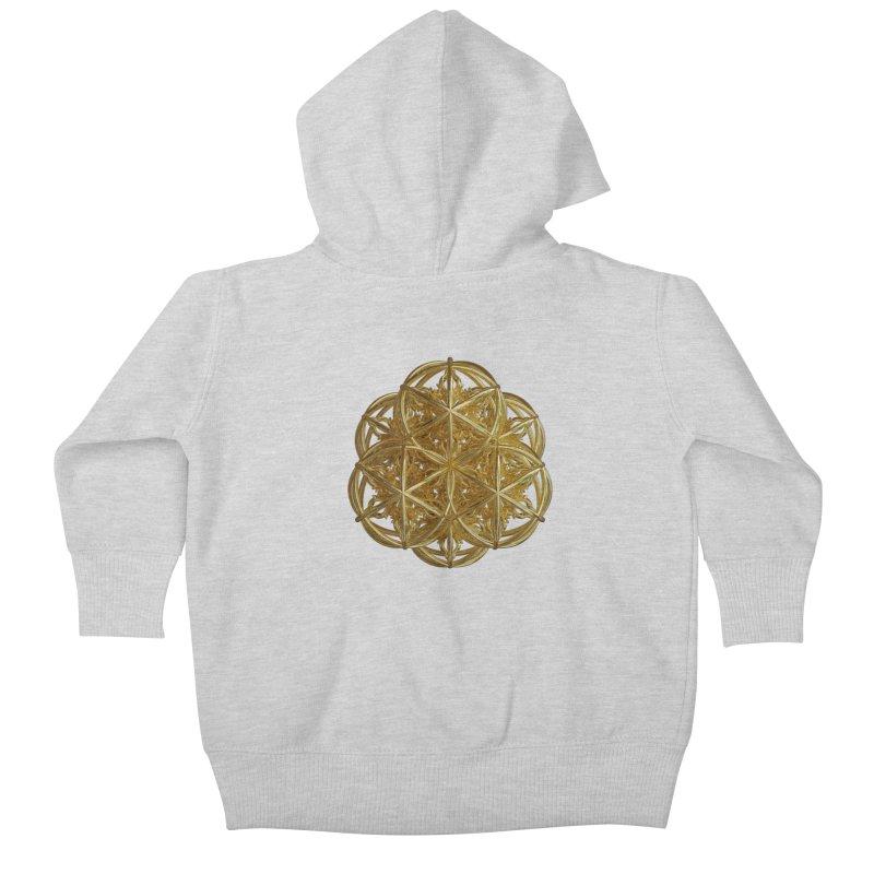 56 Dorje Object Gold v2 Kids Baby Zip-Up Hoody by diamondheart's Artist Shop